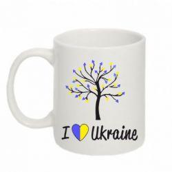 Кружка 320ml I love Ukraine дерево