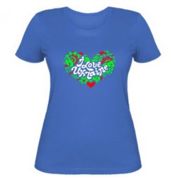 Женская футболка I love Ukraine heart