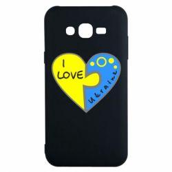 Чехол для Samsung J7 2015 I love Ukraine пазлы - FatLine