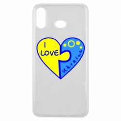 Чехол для Samsung A6s I love Ukraine пазлы - FatLine