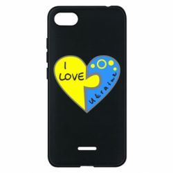 Чехол для Xiaomi Redmi 6A I love Ukraine пазлы - FatLine