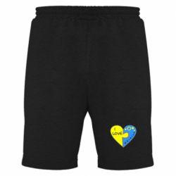 Мужские шорты I love Ukraine пазлы - FatLine