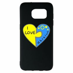 Чехол для Samsung S7 EDGE I love Ukraine пазлы - FatLine