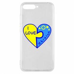 Чехол для Huawei Y6 2018 I love Ukraine пазлы - FatLine