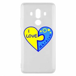 Чехол для Huawei Mate 10 Pro I love Ukraine пазлы - FatLine