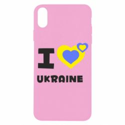 Чехол для iPhone X/Xs I love Ukraine