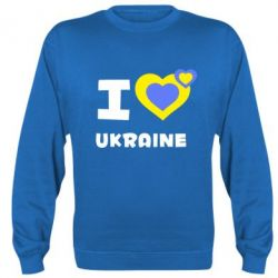 Реглан (свитшот) I love Ukraine - FatLine