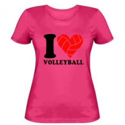 Женская футболка I love volleyball - FatLine