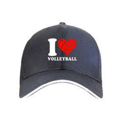 кепка I love volleyball - FatLine