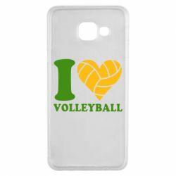 Чохол для Samsung A3 2016 I love volleyball