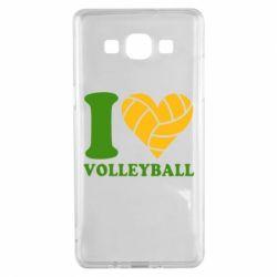 Чохол для Samsung A5 2015 I love volleyball
