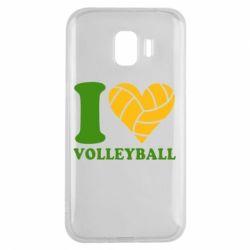 Чохол для Samsung J2 2018 I love volleyball