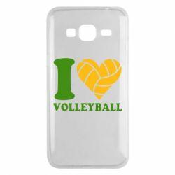 Чохол для Samsung J3 2016 I love volleyball