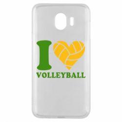 Чохол для Samsung J4 I love volleyball