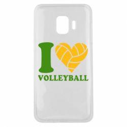 Чохол для Samsung J2 Core I love volleyball