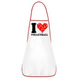 Фартук I love volleyball - FatLine