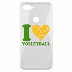 Чехол для Xiaomi Mi8 Lite I love volleyball