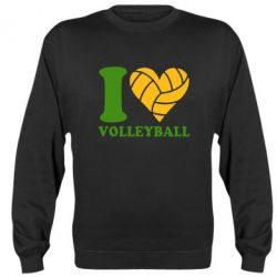 Реглан (свитшот) I love volleyball - FatLine