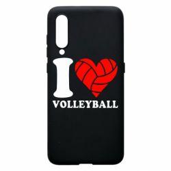 Чехол для Xiaomi Mi9 I love volleyball
