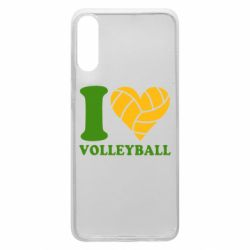 Чохол для Samsung A70 I love volleyball