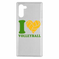 Чохол для Samsung Note 10 I love volleyball