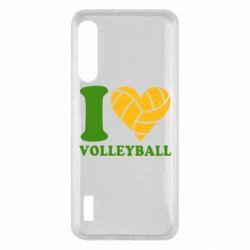 Чохол для Xiaomi Mi A3 I love volleyball