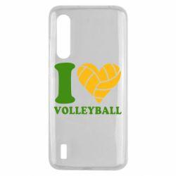 Чехол для Xiaomi Mi9 Lite I love volleyball
