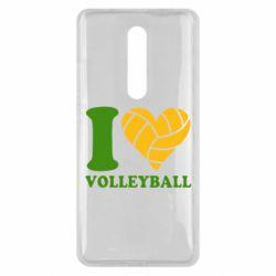 Чехол для Xiaomi Mi9T I love volleyball