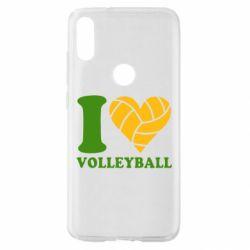 Чехол для Xiaomi Mi Play I love volleyball