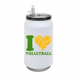 Термобанка 350ml I love volleyball