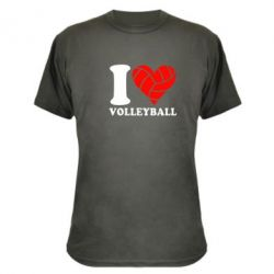 Камуфляжная футболка I love volleyball - FatLine