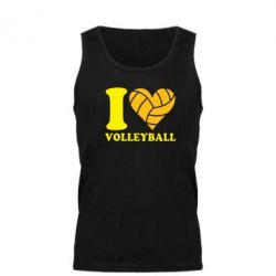 Мужская майка I love volleyball - FatLine