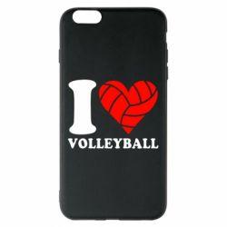 Чохол для iPhone 6 Plus/6S Plus I love volleyball