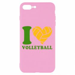 Чохол для iPhone 7 Plus I love volleyball