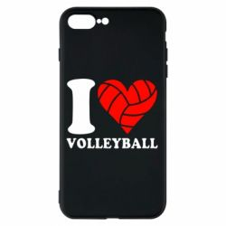 Чохол для iPhone 8 Plus I love volleyball