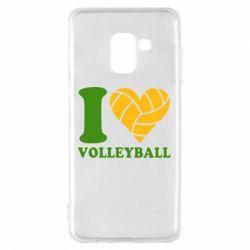 Чохол для Samsung A8 2018 I love volleyball