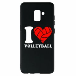 Чохол для Samsung A8+ 2018 I love volleyball