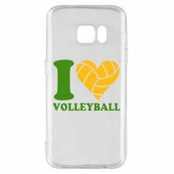Чохол для Samsung S7 I love volleyball