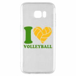 Чохол для Samsung S7 EDGE I love volleyball