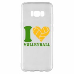 Чохол для Samsung S8+ I love volleyball