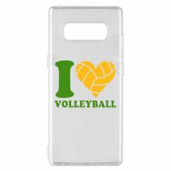 Чохол для Samsung Note 8 I love volleyball