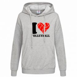 Женская толстовка I love volleyball - FatLine