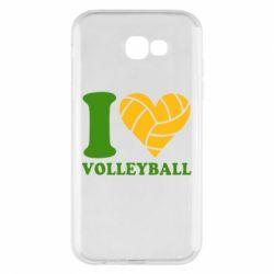 Чохол для Samsung A7 2017 I love volleyball