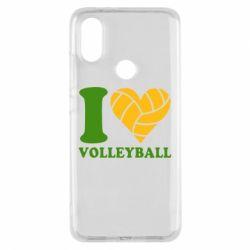 Чехол для Xiaomi Mi A2 I love volleyball