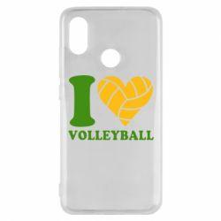 Чехол для Xiaomi Mi8 I love volleyball