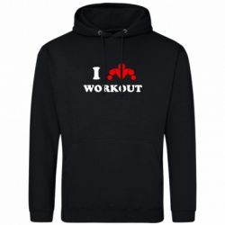 Толстовка I love workout