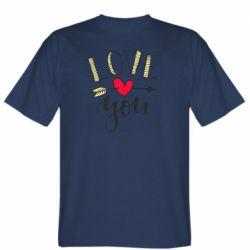 Чоловіча футболка I love you and heart