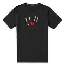 Чоловіча стрейчева футболка I love you and heart