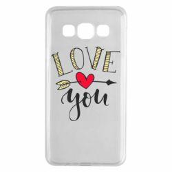 Чохол для Samsung A3 2015 I love you and heart
