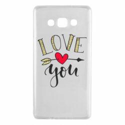 Чохол для Samsung A7 2015 I love you and heart